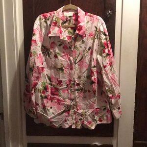 Jones of New York floral long sleeve blouse